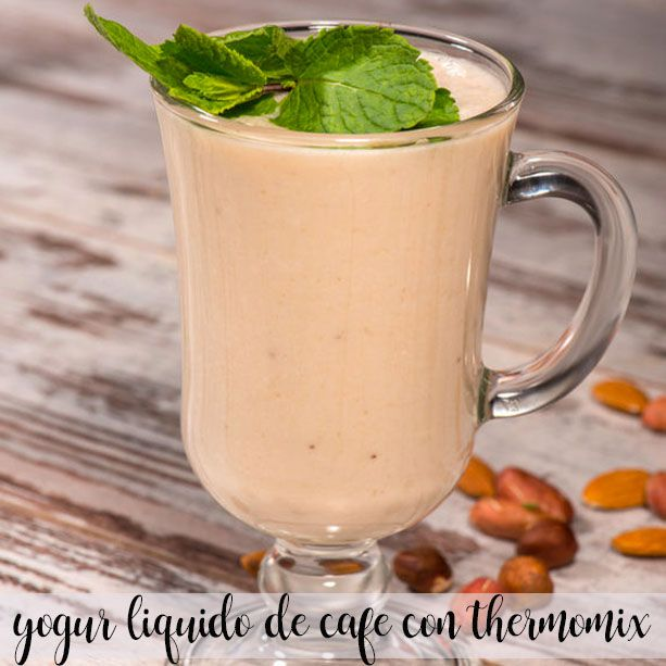 Liquid coffee yogurt with Thermomix