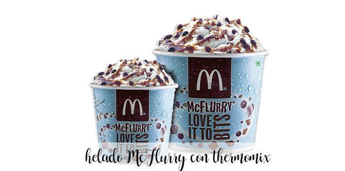 MCFlurry homemade MCdonalds ice cream with thermomix