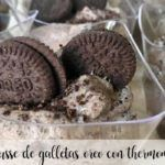 Oreo cookie mousse with Thermomix