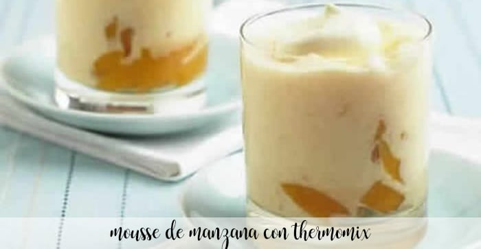 Apple mousse with thermomix