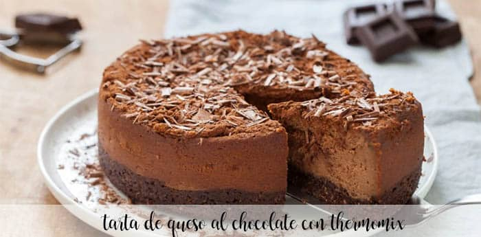 Chocolate cheese cake with thermomix