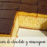 Borrachines of chocolate and mascarpone with Thermomix