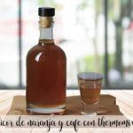 Orange and coffee liqueur with thermomix