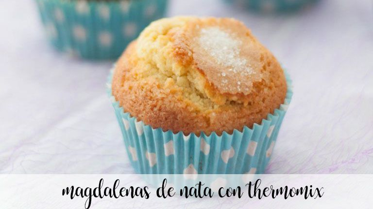 Cream cupcakes with thermomix