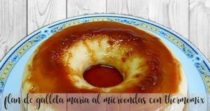 Microwave Maria biscuit flan with thermomix