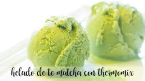 Matcha tea ice cream with Thermomix