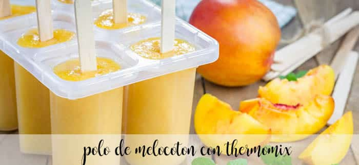 Peach popsicle with Thermomix
