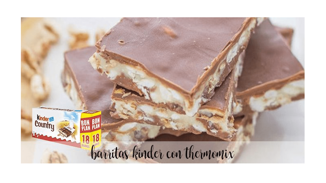 Kinder chocolate bars with thermomix