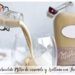 Milka caramel and hazelnut chocolate liqueur with Thermomix