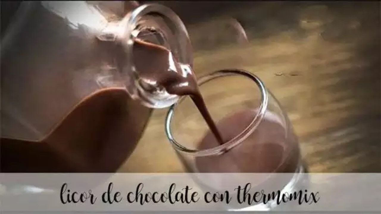 Chocolate liqueur with thermomix