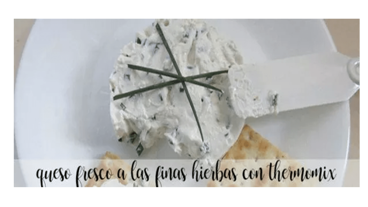 Fine herbs cream cheese with thermomix