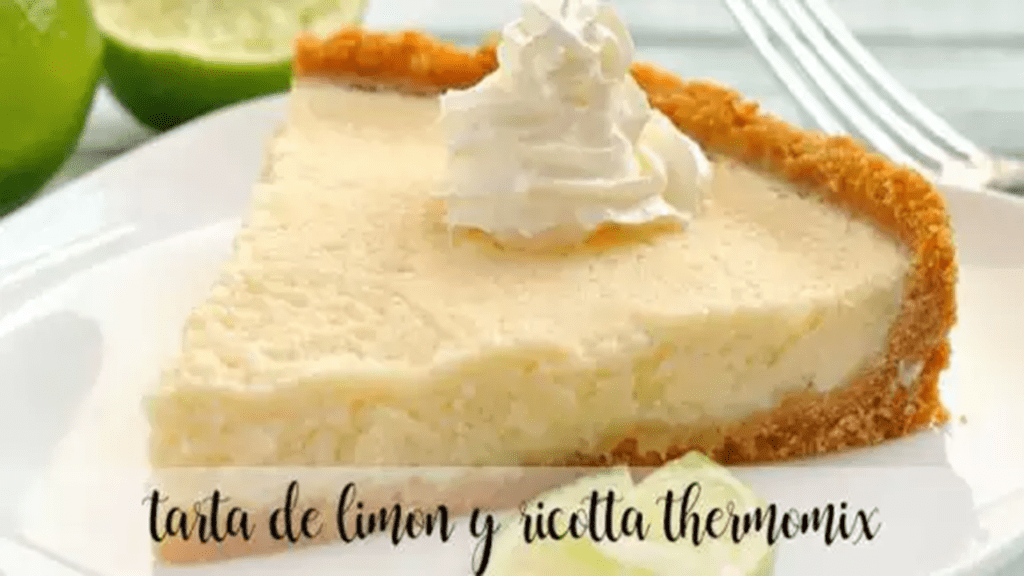 Lemon and ricotta cake with thermomix