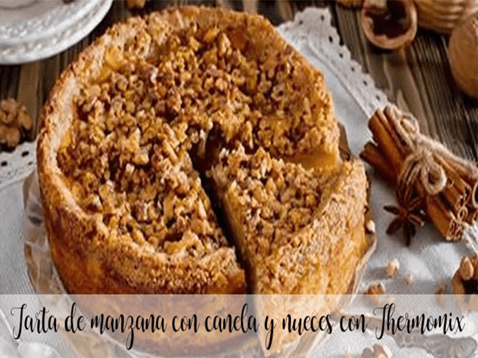 Cinnamon and walnut apple pie with Thermomix