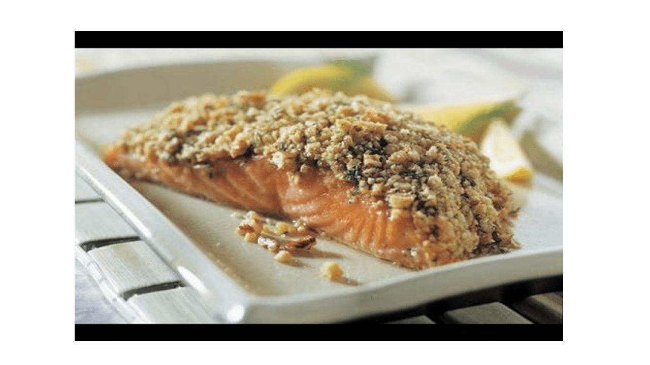 Przepis na łososia z chrupiącymi pistacjami w Thermomixie