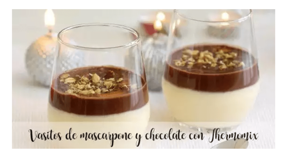 Mascarpone and chocolate cups with Thermomix
