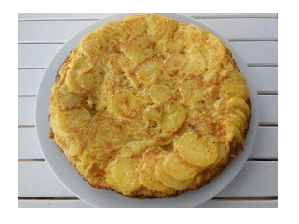 Potato omelette recipe with Thermomix