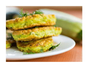 Zucchini fritters with Thermomix