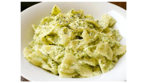 Farfalle with zucchini cream With the thermomix