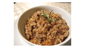 Risotto recipe with mushrooms in the Thermomix