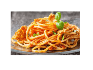 Gluten-free spaghetti with tuna and tomato for thermomix