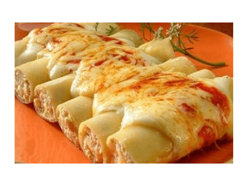 Cannelloni stuffed with meat with the Thermomix