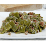 Green beans with ham in the Thermomix
