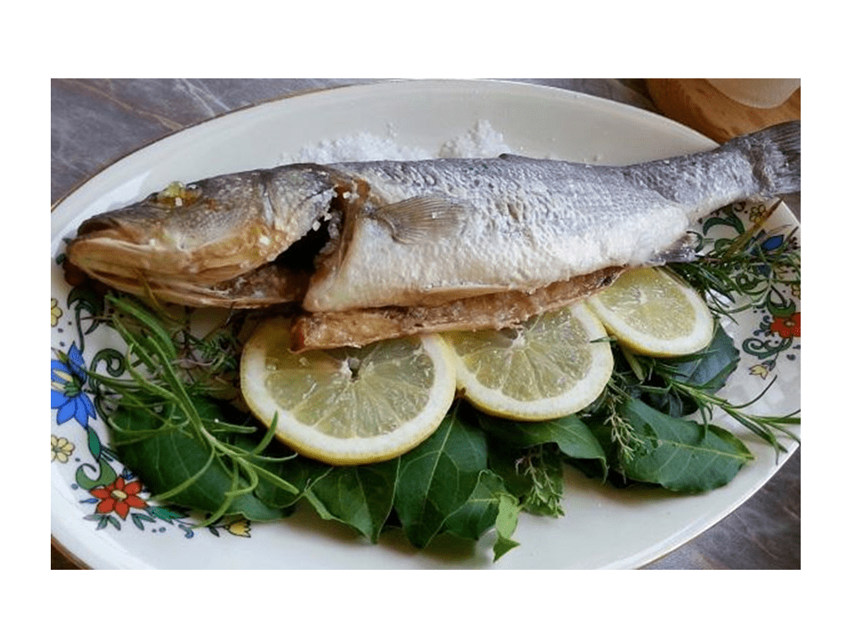 Sea bass in salt with the Thermomix