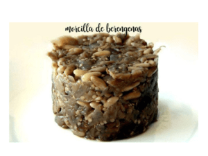 Eggplant black pudding thermomix
