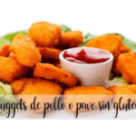 Gluten-free chicken or turkey nuggets with thermomix