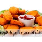 Bezglutenowe nuggetsy z kurczaka lub indyka z thermomixem