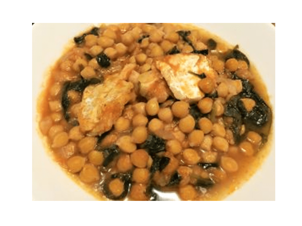 Chickpea stew with cod in the Thermomix
