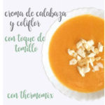 Pumpkin cream and thyme cauliflower with Thermomix