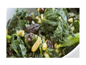 Spinach with raisins recipe at Thermomix