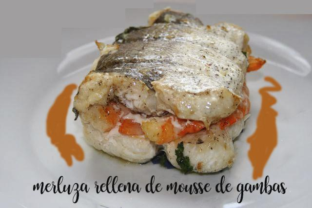 Hake stuffed with shrimp mousse with thermomix
