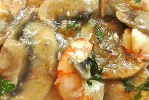 Mushroom with shrimp recipe at Thermomix