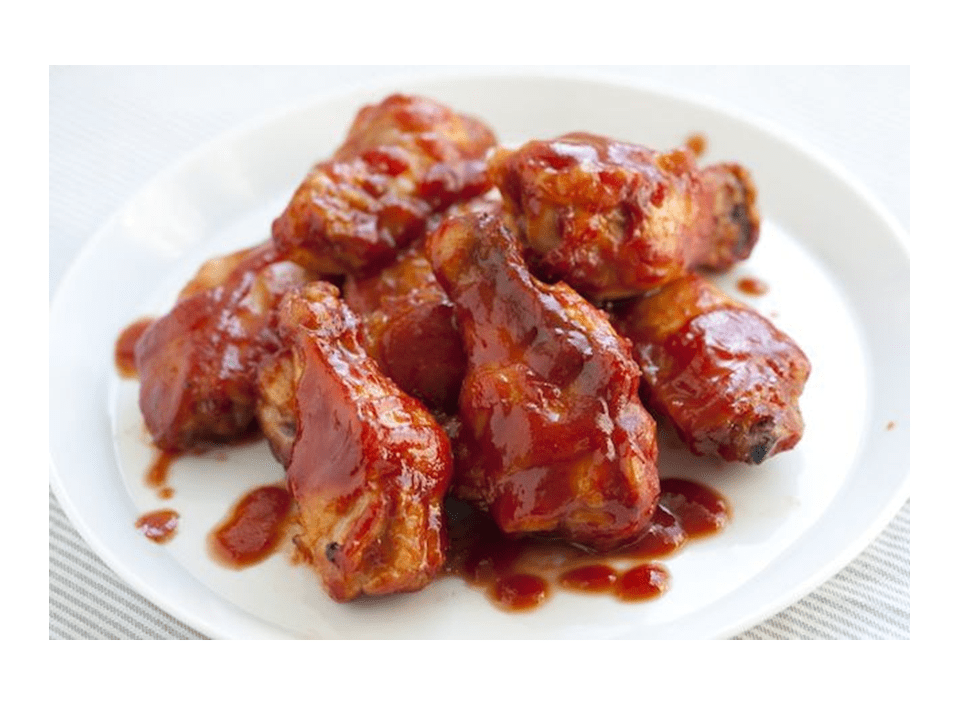 Chicken wings with barbecue sauce in the Thermomix