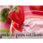 Strawberry gazpacho with thermomix