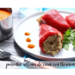 Peppers stuffed with meat with thermomix