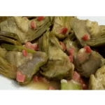 Recipe for artichokes with ham in the Thermomix