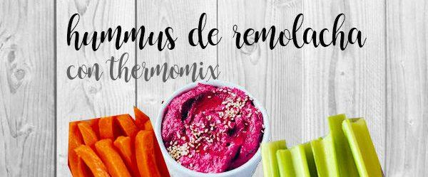 Beet hummus with thermomix