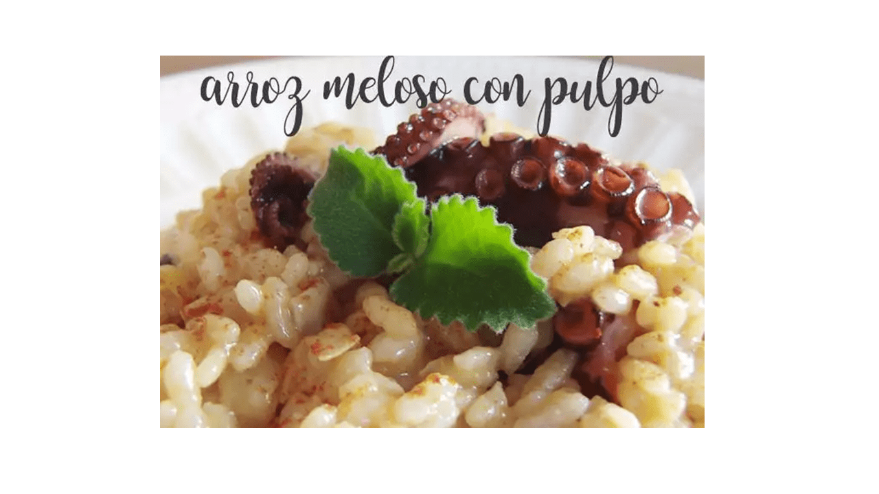 Honeyed rice or Risotto with octopus with Thermomix