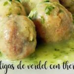 Mackerel meatballs in green sauce with thermomix