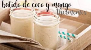 Coconut and mango smoothie with thermomix