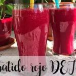 Red DETOX smoothie recipe with thermomix