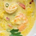 Thai cream with prawns in the Thermomix