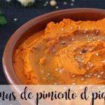 Hummus of piquillo peppers with thermomix