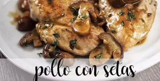 Chicken with mushrooms in the Thermomix