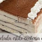 Contessa or viennetta style frozen cake with thermomix