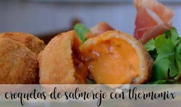 Salmorejo croquettes with thermomix