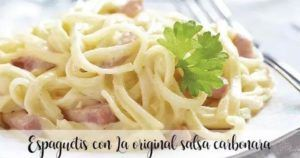 Spaghetti carbonara with Thermomix
